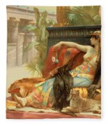 Cleopatra Testing Poisons On Those Condemned To Death Fleece Blanket