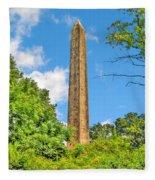 Cleopatra's Needle In Central Park Fleece Blanket