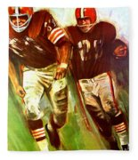 Cleveland Browns 1965 Cb Helmet Poster Fleece Blanket