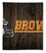 Cleveland Browns Barn Door Fleece Blanket
