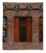 Cleveland Browns Brick Wall Fleece Blanket