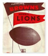 Cleveland Browns Vintage Program 4 Fleece Blanket