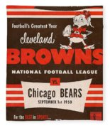 Cleveland Browns Vintage Program 5 Fleece Blanket