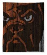 Cleveland Browns Wood Fence Fleece Blanket