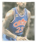 Cleveland Cavaliers Lebron James 1 Fleece Blanket
