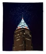 Cleveland Key Building With Electricity Fleece Blanket