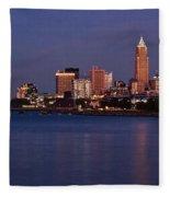 Cleveland Ohio Fleece Blanket