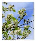 Flowering Pear Fleece Blanket