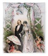 Clevelands Wedding, 1886 Fleece Blanket