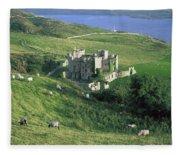 Clifden Castle, Co Galway, Ireland 19th Fleece Blanket