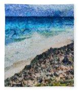 Cliff And Water Fleece Blanket