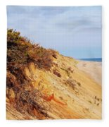 Cliff At Marconi Beach Fleece Blanket