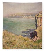 Cliff At Varengeville Fleece Blanket