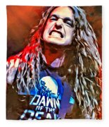 Cliff Burton Portrait Fleece Blanket