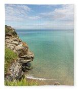 Cliff Edge At St Agnes Fleece Blanket