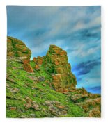 Cliff #h0 Fleece Blanket