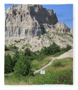 Cliff Shelf Trail In Badlands National Park South Dakota Fleece Blanket