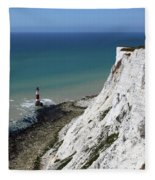Cliffs At Beachy Head East Sussex Fleece Blanket