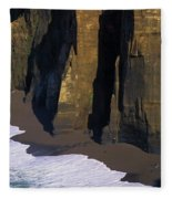 Cliffs At Blacklock Point Fleece Blanket