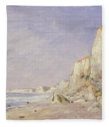 Cliffs Near Dieppe Fleece Blanket