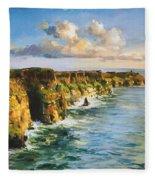 Cliffs Of Mohar 2 Fleece Blanket