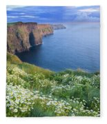 Cliffs Of Moher, Co Clare, Ireland Fleece Blanket