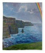 Cliffs Of Moher  Fleece Blanket