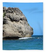 Cliffs On The Beach Dominican Republic  Fleece Blanket