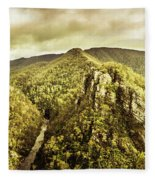 Cliffs, Steams And Valleys Fleece Blanket