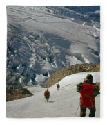 T-204805-climbing Party Mt. Rainier  Fleece Blanket