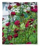 Climbing Roses Fleece Blanket