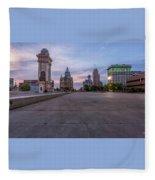 Clinton Square Sunrise Fleece Blanket