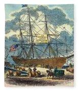 Clipper: Flying Cloud, 1851 Fleece Blanket