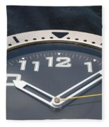 Clock Face Fleece Blanket