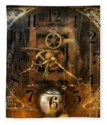 Clockmaker - A Sharp Looking Time Piece Fleece Blanket