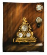 Clockmaker - Clocks Fleece Blanket