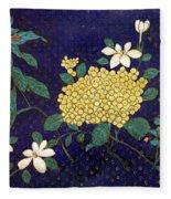 Cloisonee' Flower Fleece Blanket