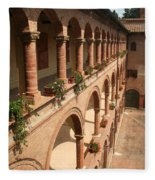 Cloistered Courtyard Fleece Blanket