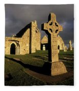 Clonmacnoise Monastery, Co Offaly Fleece Blanket
