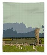 Clonmacnoise Monastery Fleece Blanket