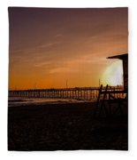 Close Of The Day At Newport Beach Fleece Blanket