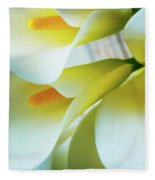 Close Up Calla Lilies Fleece Blanket