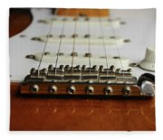 Close Up Electric Guitar Fleece Blanket