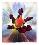 Close Up From A Tulip Flower Fleece Blanket