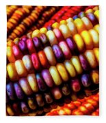 Close Up Indian Corn Fleece Blanket