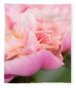 Close Up Macro Peony Flower Fleece Blanket