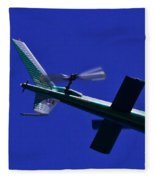 Close Up Of Helicopter Vh Lee Fleece Blanket
