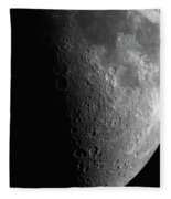Close-up Of Moon Fleece Blanket
