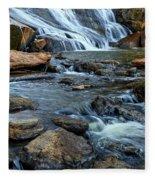 Close Up Of Reedy Falls In South Carolina Fleece Blanket