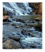 Close Up Of Reedy Falls In South Carolina II Fleece Blanket